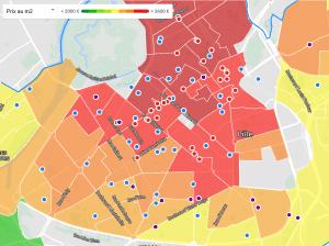 evaluer le prix au mètre carré à Lille