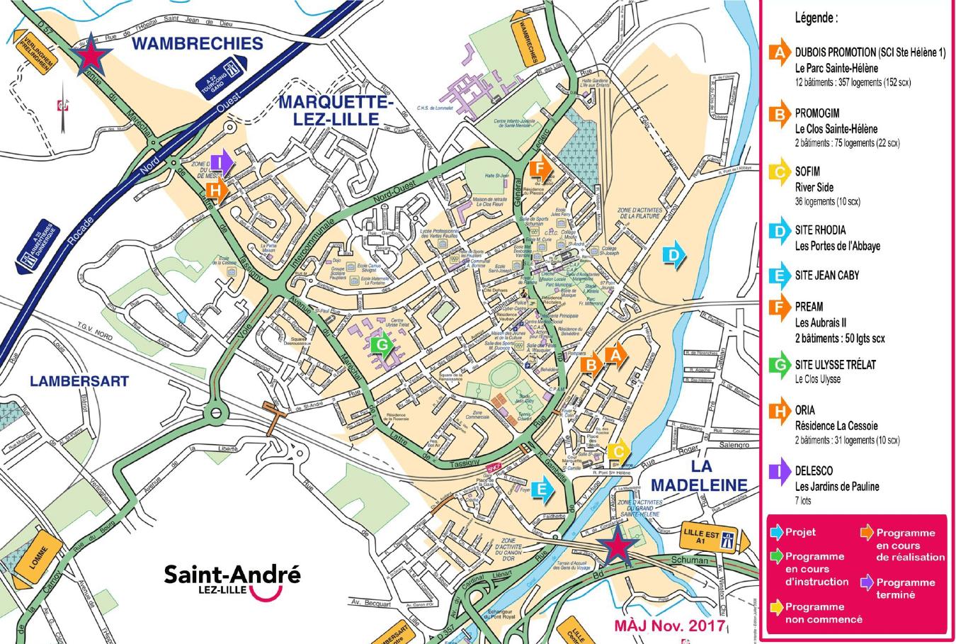 saint-andré-lez-lille projets