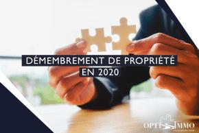 Démembrement de propriété en 2020