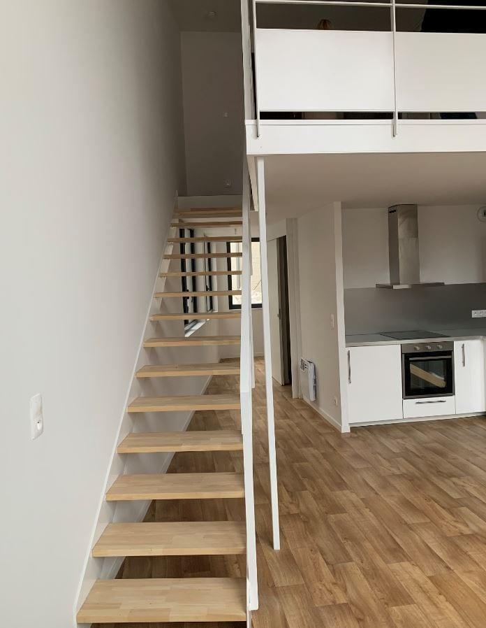 séjour cuisine ouverte escalier programme neuf valenciennes-centre