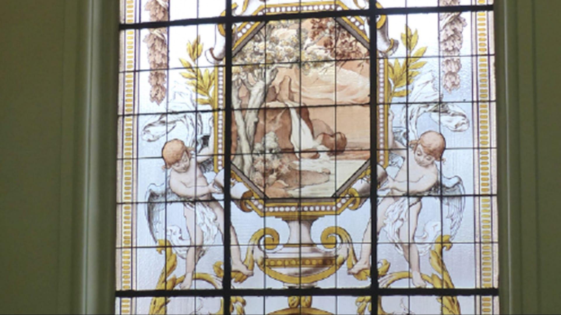 visuel vitrail intérieur programme rue d'inkermann Lille centre